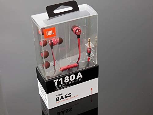 JBL Pure Bass Stereo t180 a In-Ear Headphone with Microphone