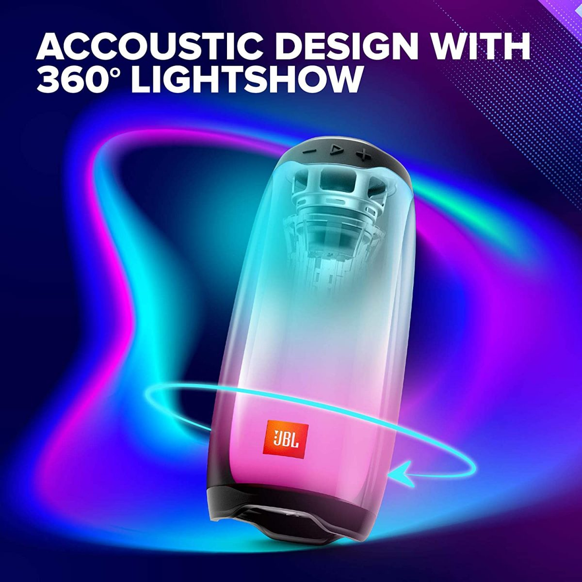 JBL Pulse 4 Portable Bluetooth Speaker with 360-Degree LED Lightshow
