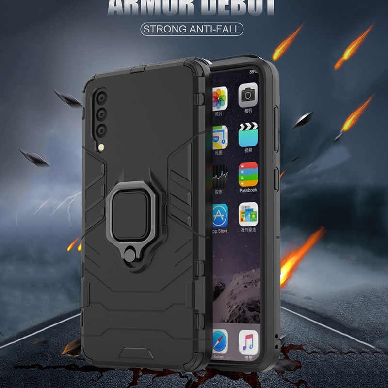 Shockproof bumper armor phone case - For Samsung
