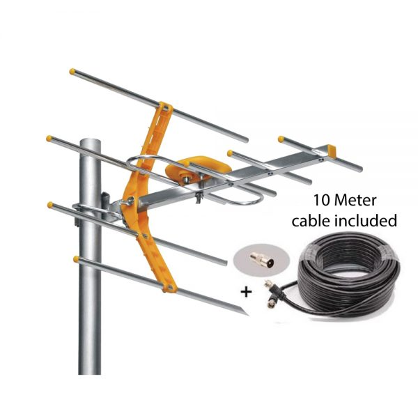 High Gain Outdoor TV Antenna Aerial For DVBT2 HDTV (Phelistar)