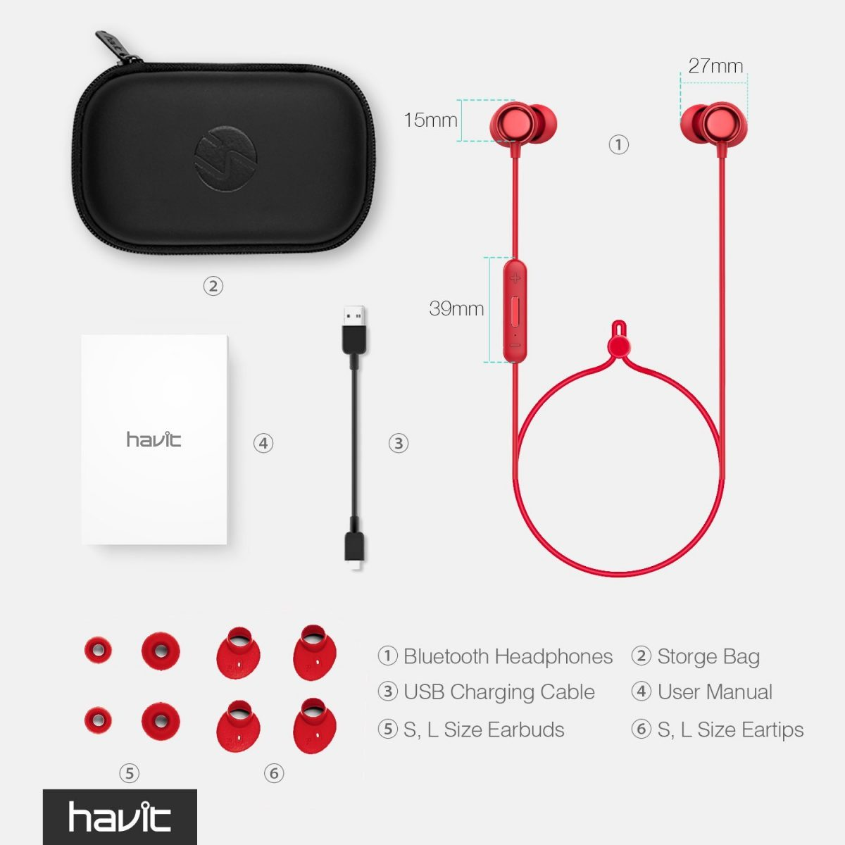 HAVIT Bluetooth Earbuds- HV - i39