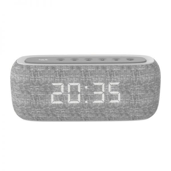 HAVIT M29 wireless speaker with dual alarm clocks